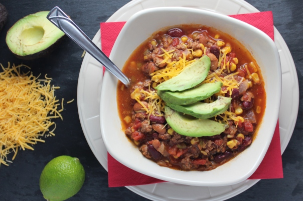Crock Pot Taco Soup with Avocado {Little Leopard Book}