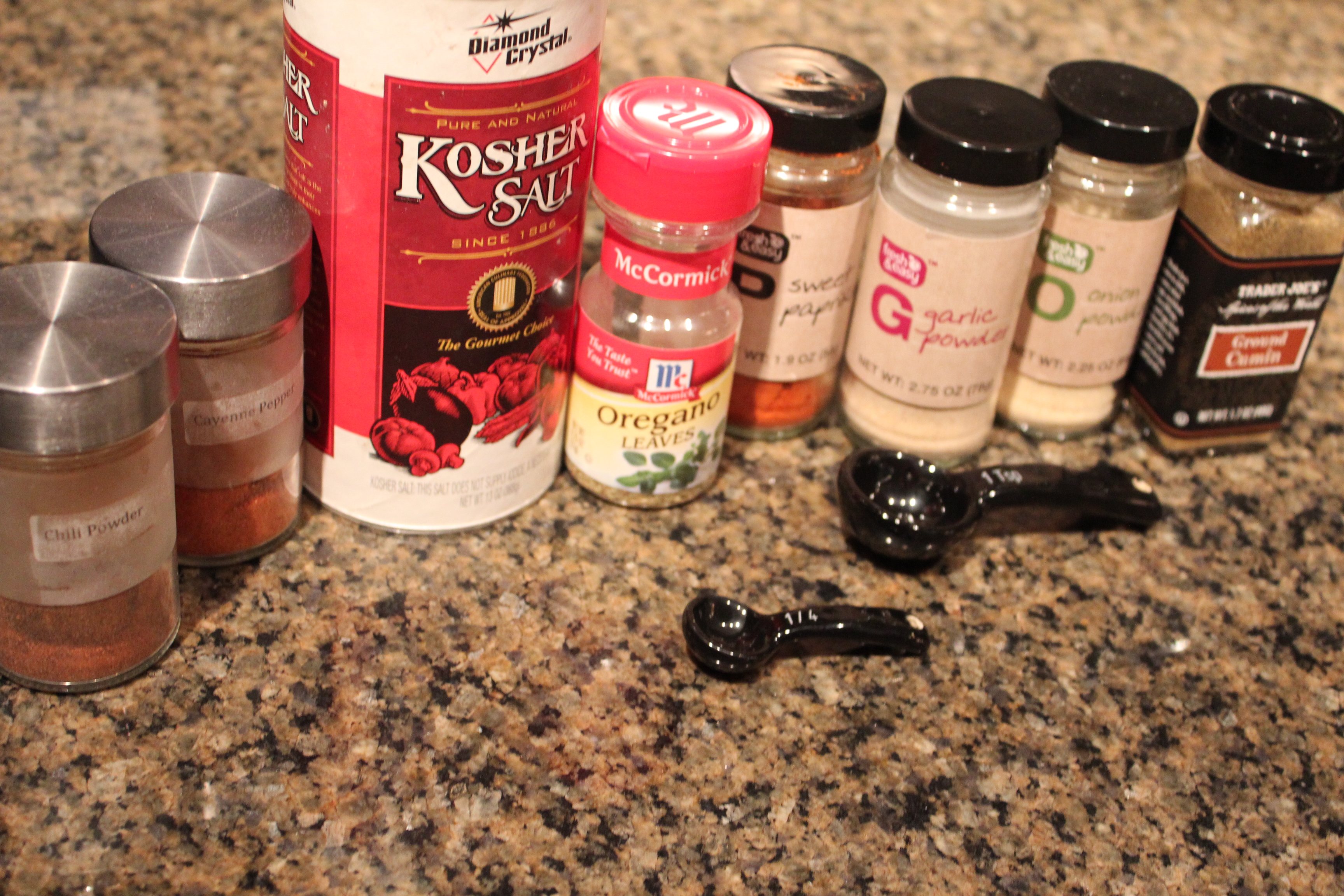 Homemade Taco Seasoning Ingredients