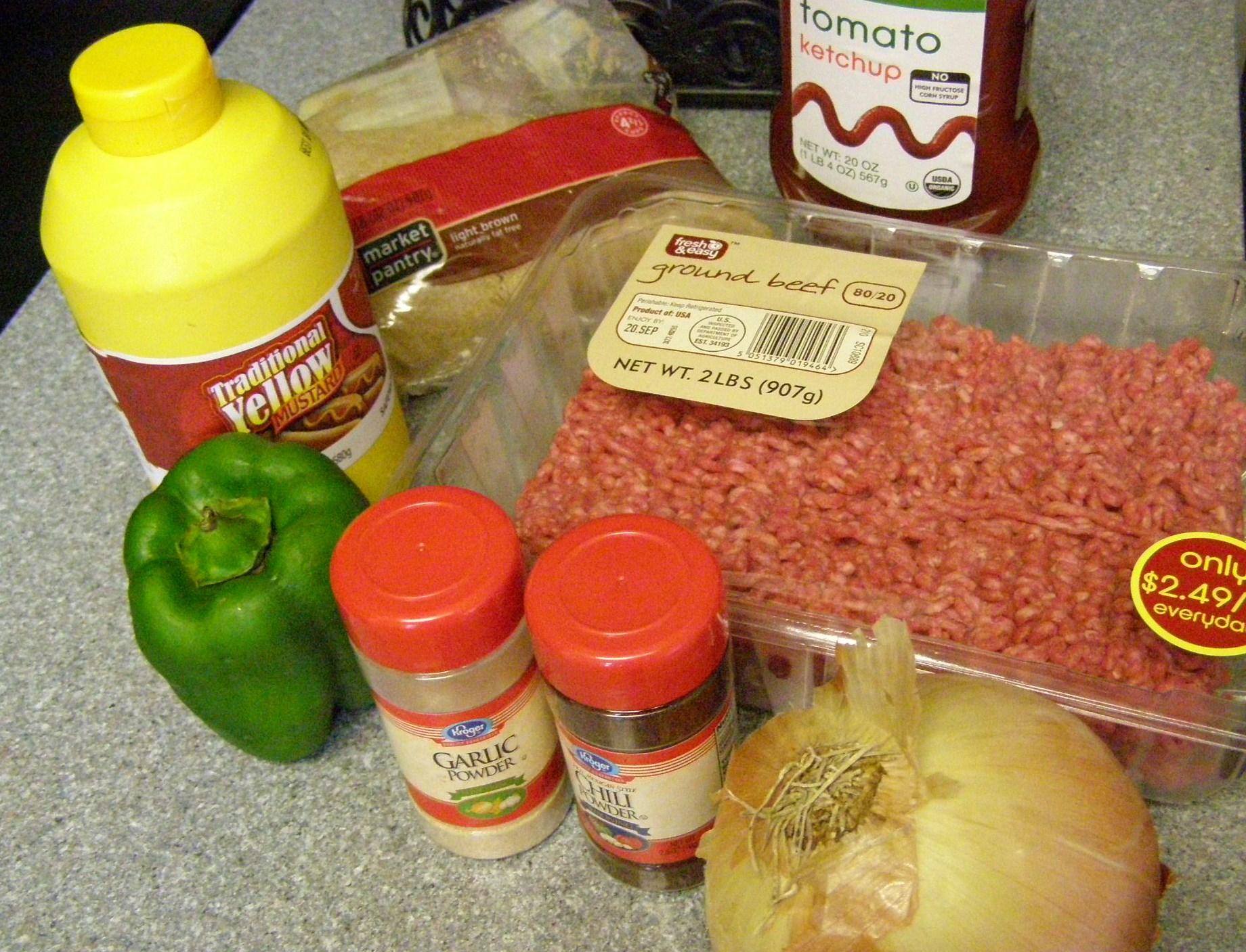 Sloppy Joe Slider Ingredients