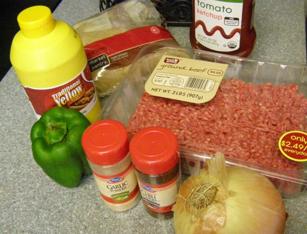 Sloppy Joe Slider Ingredients