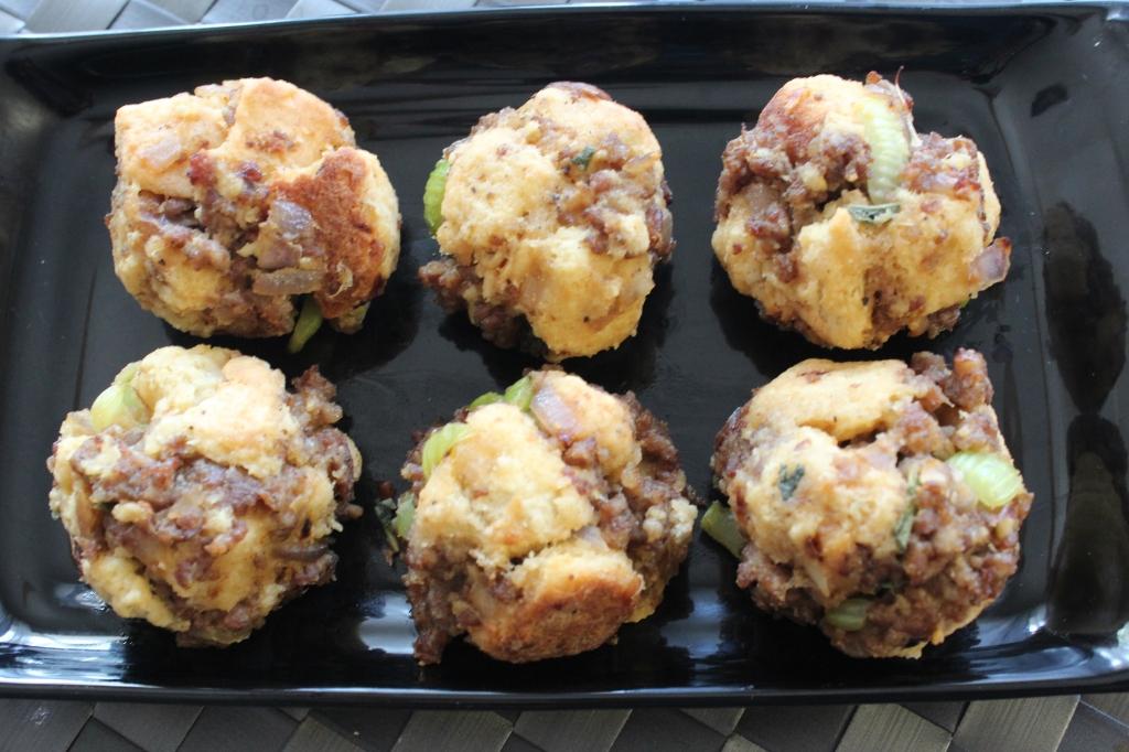sausage dressing balls, sausage stuffing, leftover stuffing recipe, leftover dressing recipe, sausage balls, recipe, thanksgiving