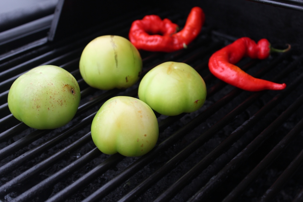 red, chilies, peppers, tomatillos, grilling