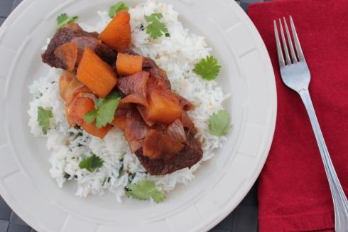 short ribs, beef, teriyaki, pineapple, pressure cooker, dinner, food, recipe, soy sauce, ginger, onions, garlic, honey