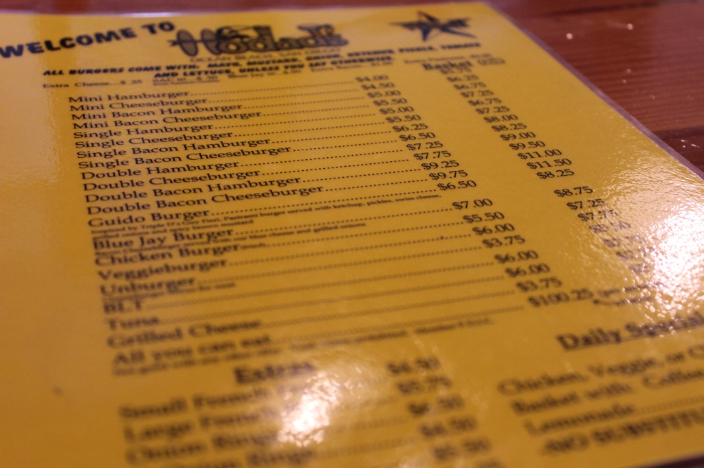 Hodad's, San Diego, Downtown, Ocean Beach, Menu, Cheeseburgers, Frings
