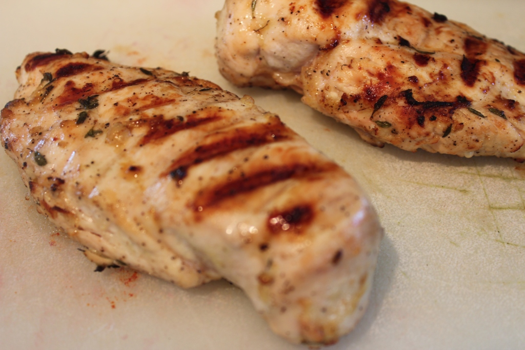 Chicken, Lemon, Thyme, Garlic, Olive Oil, Grill, Recipe, Food