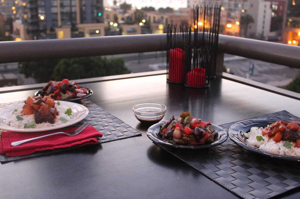 short ribs, beef, teriyaki, pineapple, pressure cooker, dinner, food, san diego, little italy, balcony