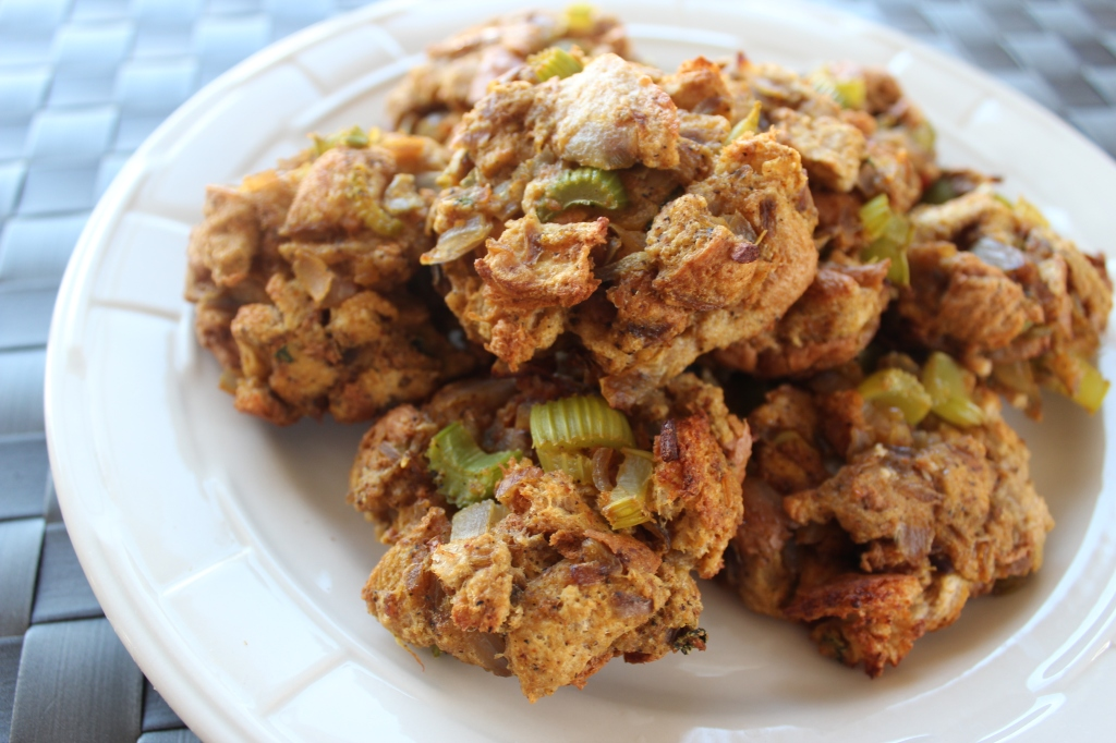 stuffing, cakes, spicy, chili powder, curry powder, celery, onions, garlic, bread, side dish, recipe