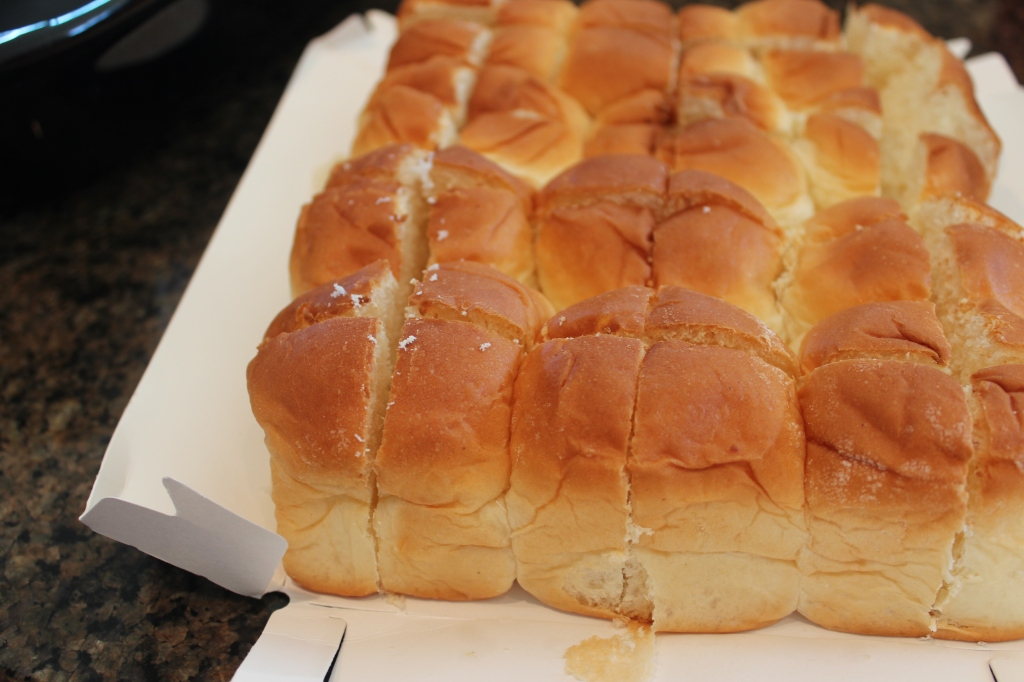 Cubed sweet rolls
