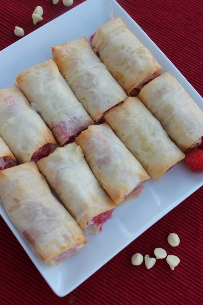 White Chocolate Raspberry Dessert Rolls