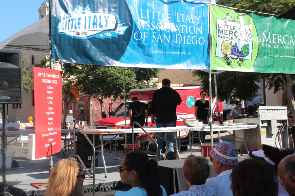 little italy, festa, san diego, cooking demonstrations, stage, festival, Italian