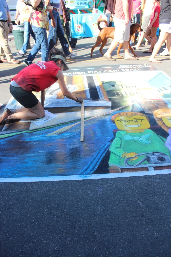 little italy, festa, san diego, chalk painting demonstrations, chalk art, live art, festival, Italian