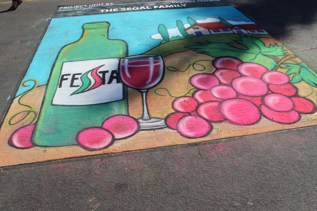 little italy, festa, san diego, chalk art, live art, chalk painting, festival, Italian