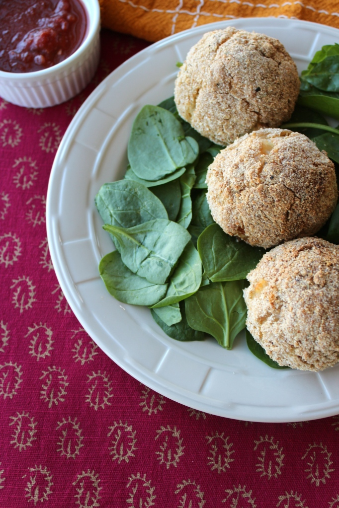 rice balls, baked rice balls, risotto balls, ricotta filled arancini, ricotta filled risotto balls, ricotta filled rice balls, breaded rice balls