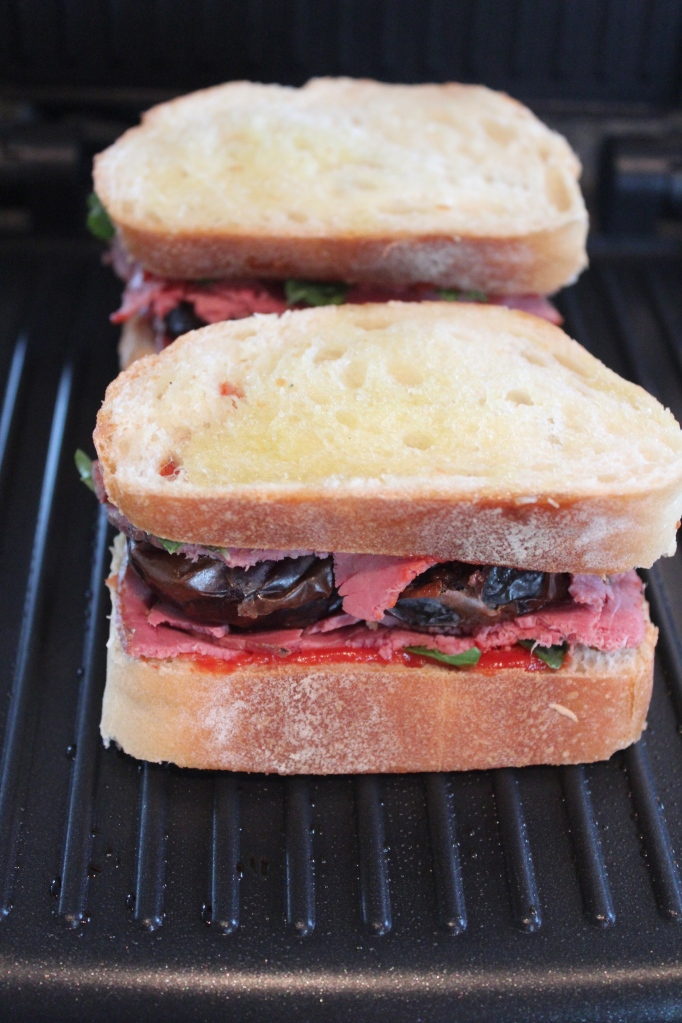 panini press, panini sandwich, pastrami date panini, recipe