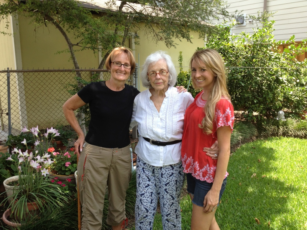 grandma, backyard, texas, Houston, nana, mom, family