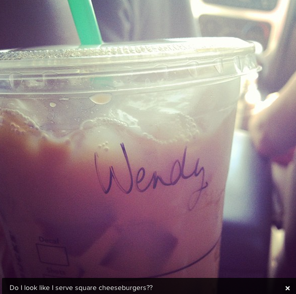 starbucks, iced coffee, wendy, instagram
