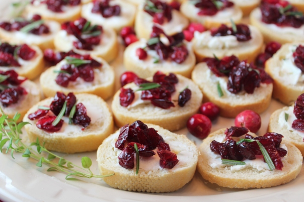 Cranberry Rosemary Crostini's