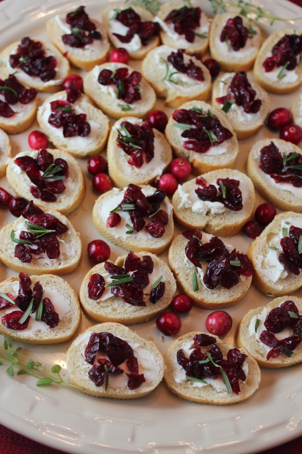 Cranberry Baguette Hors D'oeuvres