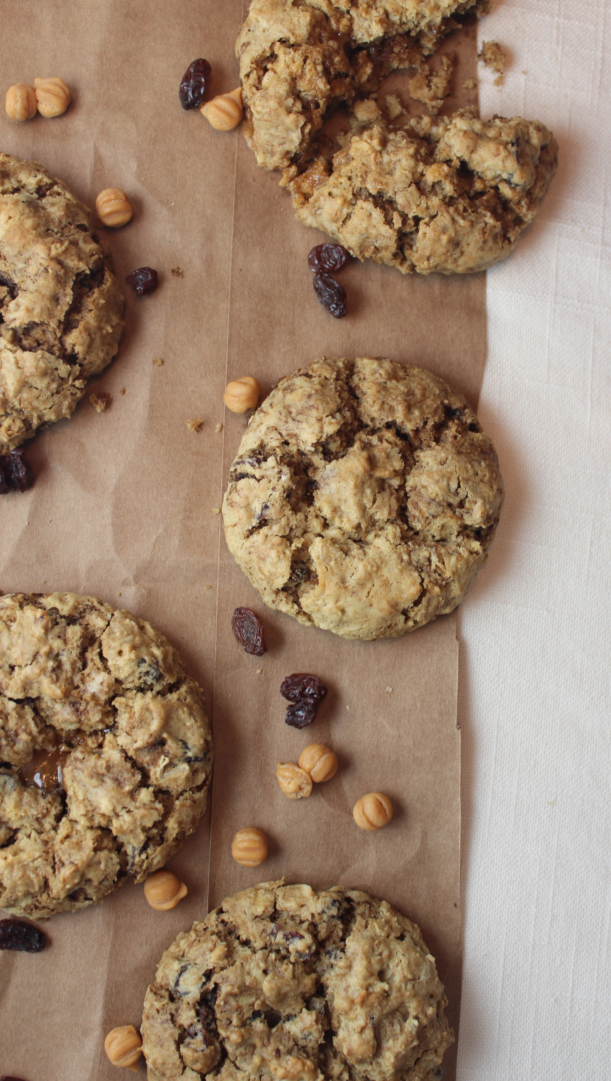 Gluten Free Oatmeal Raisin Coffee Cookies
