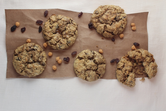 gluten-free cookies, gluten-free, oatmeal raisin cookies, oatmeal raisin coffee cookies, coffee cookies