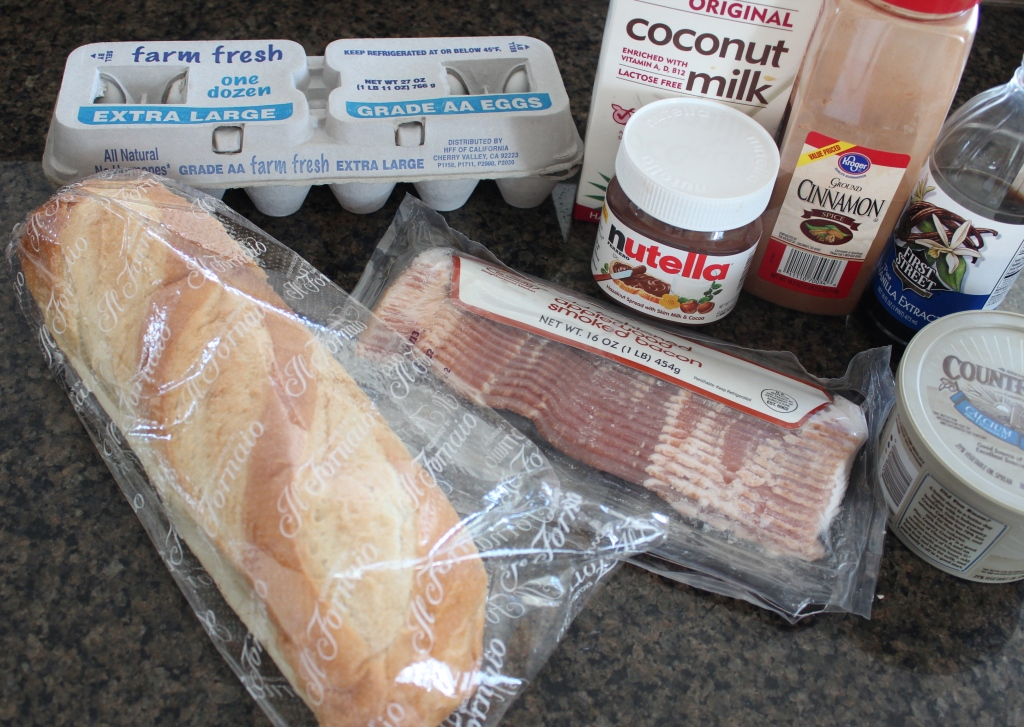 Nutella Bacon French Toast Panini Ingredients