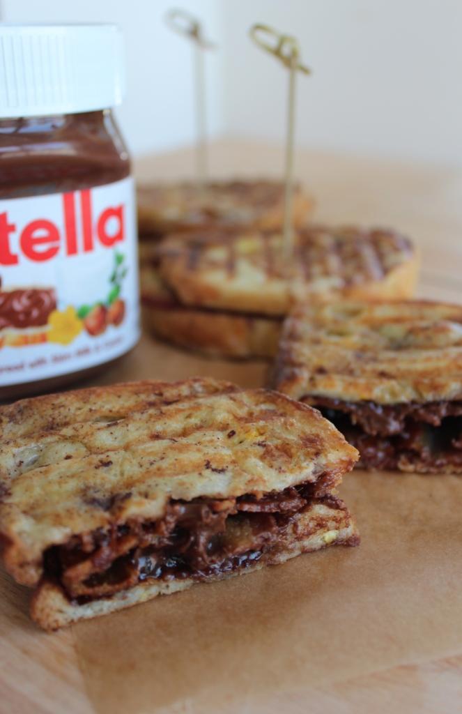Nutella Bacon French Toast Panini