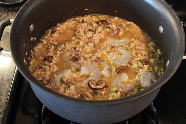 sausage shrimp jambalaya, cajun jambalaya, japanese jambalaya, cajun japanese fusion, chopped challenge, recipes
