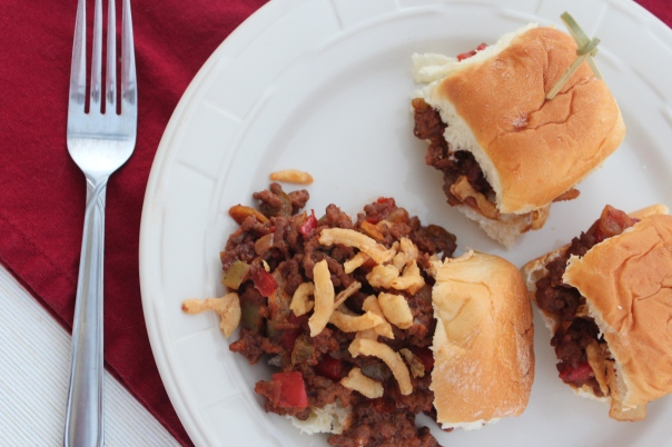 Sloppy Joe Sliders {Little Leopard Book}