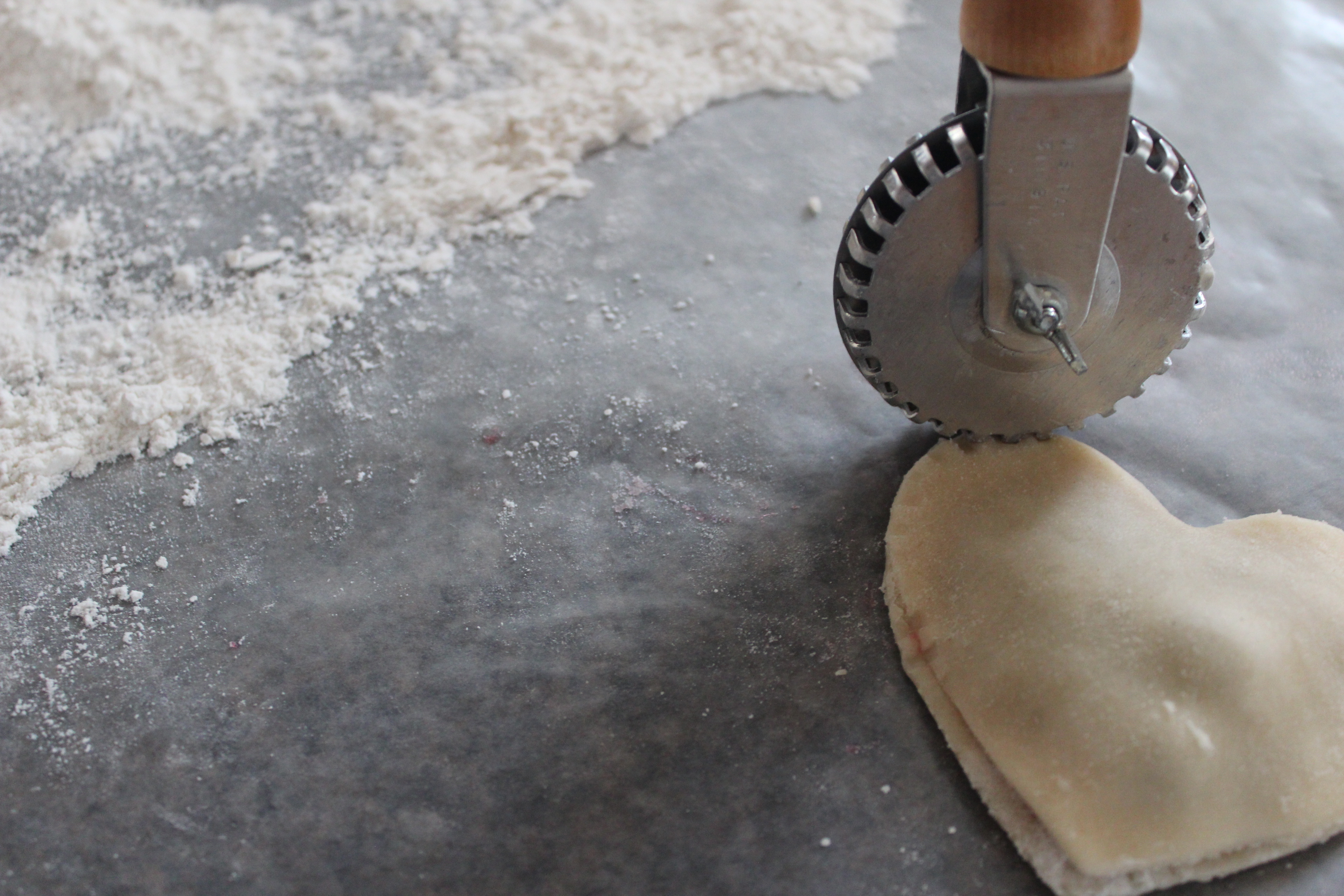 Making Heart Shaped Pies