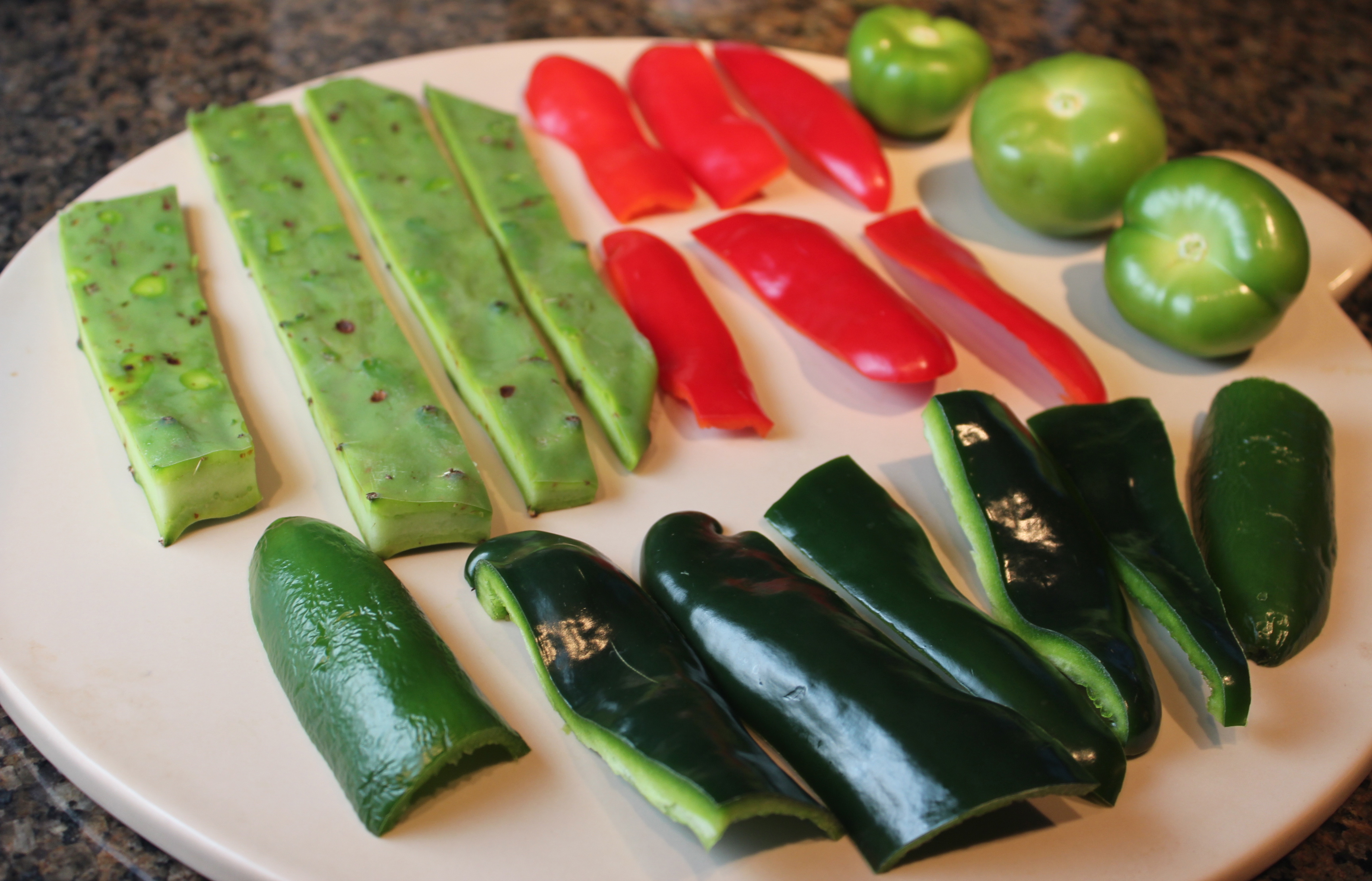 roasted poblano chilies, roasted jalapeños, roasted tomatillos, roasted red pepper, roasted cactus, roasting vegetables, oven roasted chilis, oven roasted peppers