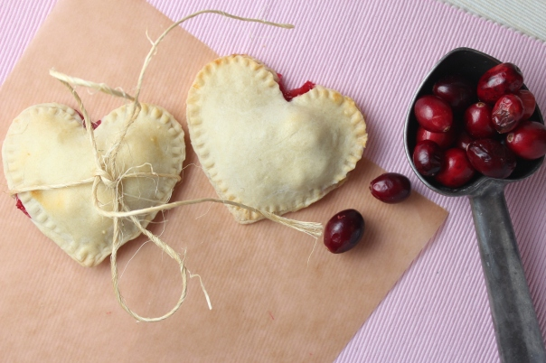 Cranberry Heart Shaped Pies