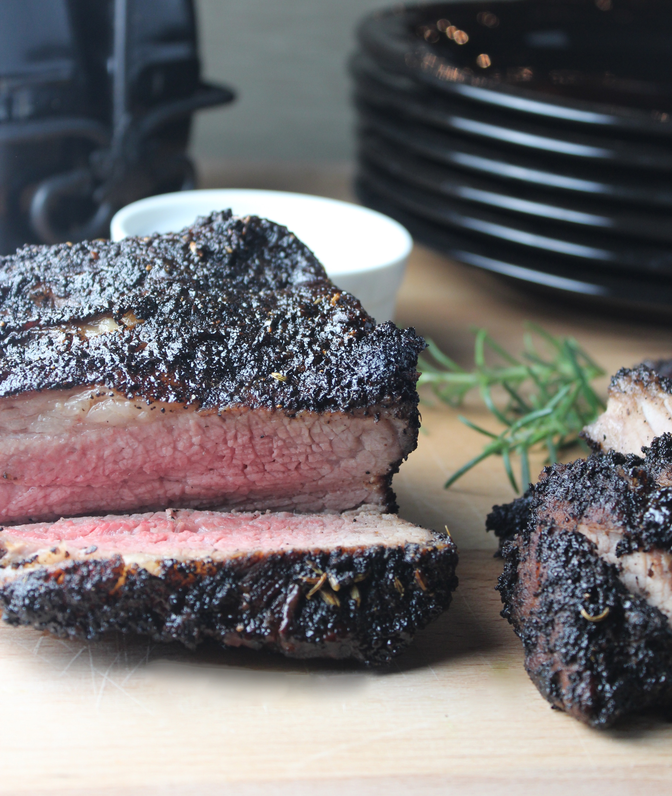 Coffee Crusted Tri Tip {Little Leopard Book}