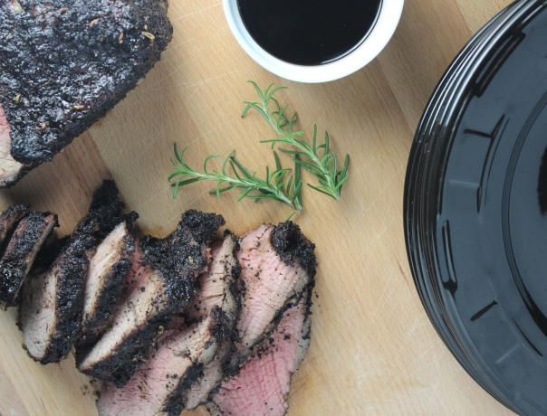 Coffee Rosemary Fennel Seed Crusted Tri Tip