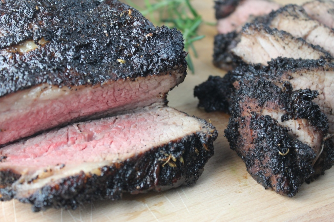 coffee crusted steak, coffee crusted tri tip, grilled tri tip, tri tip coffee rub, recipes, food, balsamic stout reduction, balsamic stout beer sauce, stout beer steak sauce